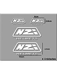 PEGATINAS STICKERS MOTO NZI R102 AUFKLEBER DECALS AUTOCOLLANTS ADESIVI (BLANCO/WHITE)