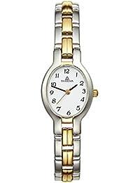 Dugena 4110323 - Reloj analógico de mujer de cuarzo con correa de acero inoxidable multicolor - sumergible a 30 metros