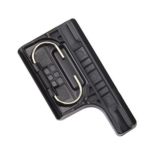 SHOOT Plastic Latch Rear Snap Lock Gürtelschnalle für GoPro Hero 3+ Kamera Standard Wasserdicht Skeleton Gehäuse (Schwarz) (Clip Gopro 3 Hero)