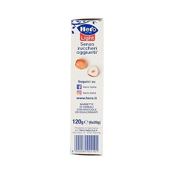 Hero Light Barrette ai Cereali Nocciola - 1 Confezione da 6x20 gr 4 spesavip