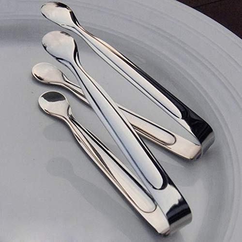 sal008ly7far 2Pcs Ice Serving Tongs,Stainless Steel Sugar Clamp Ice Cube Tongs Coffee Bar Buffet Pastry Clip Silver Silver - Buffet Tong
