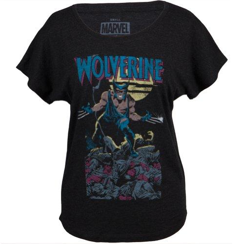 Wolverine–Weiches Quest Junioren Dolman T-Shirt Schwarz Gr. X-Large, schwarz (Dolman Band)
