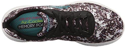 Skechers Sport Burst Illuminations moda Sneaker Black/White