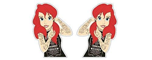 Punkgirl Tattoo Rockabella Biker Girl Ariel Bike Babe Tennessee Aufkleber Sticker Autocollant Pegatinas / Plus Schlüsselringanhänger aus Kokosnuss-Schale / Auto Motorrad Laptop Racing Tuning Motorsport MotoGP Harley Davidson Biker-girl