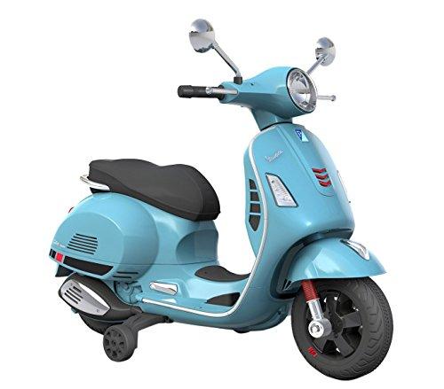 B70592 Moto eléctrica PIAGGIO para niños VESPA GTS con ruedas LED 12V - Azul
