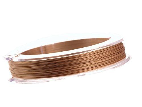 Filo in acciaio inox per collane, braccialetti, orecchini, 7 filamenti, 0,5 mm rivestito in nylon, rotolo da 10 m 85 rose gold