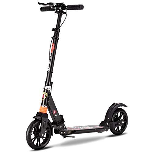 GOPLUS Scooter klappbar Kinder Roller Tret Roller Cityroller Kickscooter mit Handbremse bis 100 kg