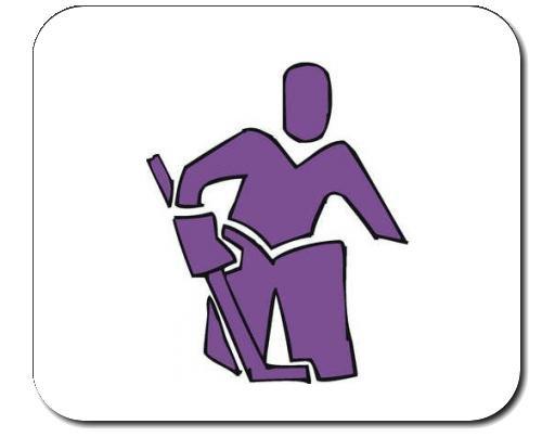 """Mauspad mit der Grafik: violett, Torwart, Bild, Europa, Schweden, Symbol, unterzeichnen, """"Ziel Angebot"""", Emblem, """"Eishockey"""", Logo, Sport, Eiskunstläuferin, Stock"""
