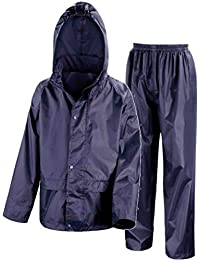 5e99ddc7b0c3 Kids Waterproof Jacket & Trousers Suit Set in Black, Navy Blue or Royal  Blue Childs