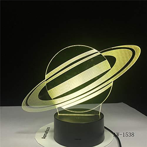 Lampada da tavolo USB LED 3D luce 7 colori novità luce notturna a LED come regalo giocattolo per bambini decorazione della casa trasporto di goccia 1 Nessun contro