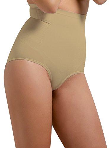 SLIP donna Modellante VITA ALTA COULOTTE Contenitiva ELASTICO COMFORT Senza Cuciture traspirante ed antibatterico Shapewear ECO Sensì Made in Italy S M L XLnero- bianco naturale Naturale
