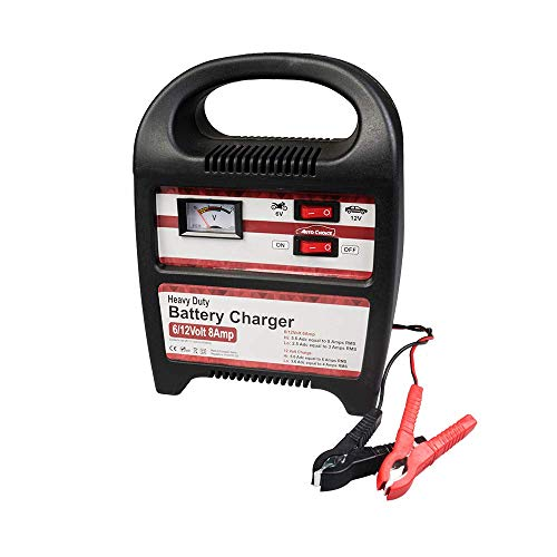 Autochoice 6v/12v 8Am P Moto / Auto Carica Batterie - Analogico - con Hi/Low Carica - Ce Rohs Compatibile Co