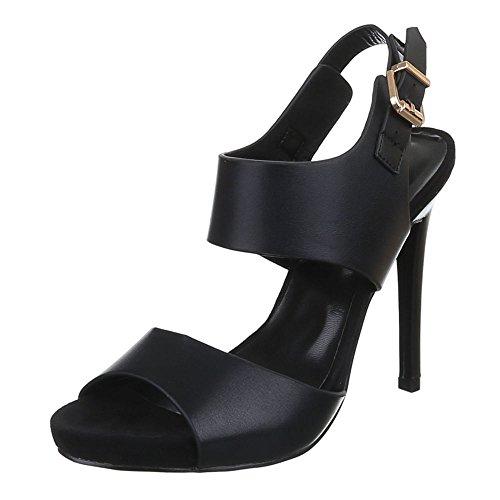 Scarpe Da Donna, F60, Sandali Con Tacchi Alti Nero