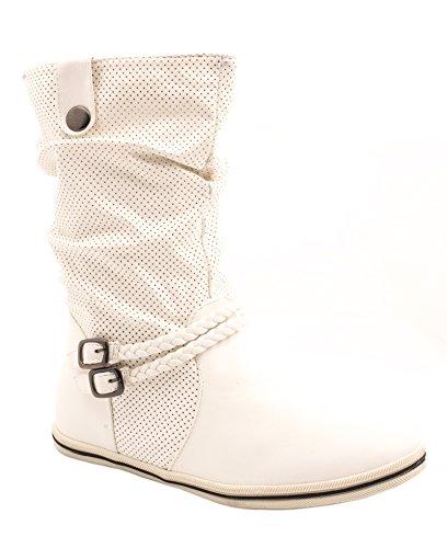Elara - Bottines Chelsea Femme Blanc (blanc)