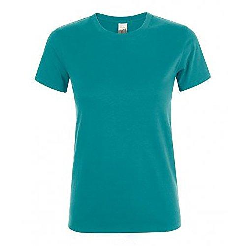 SOLS Damen Regent Kurzarm T-Shirt (XL) (Entenblau)