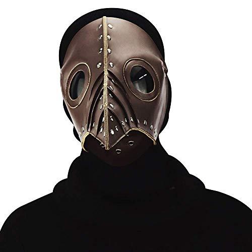 Zicue Humorvolle Maske Maskerade Prom Maske Halloween-Pest-Langer Vogel-Mund-Doktor Dance Mask Cosplay Prop Geschenk, Messing