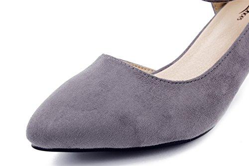 Scarpe Oldemi Scarpe Da Donna Con Fibbia Classico In Suede Grigio