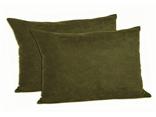 Faux Zwei Stück (moonrest 13by 19Faux Wildleder Dekoratives Kissen (2Stück), Polyester-Mischgewebe, olivgrün, 12-1/2 By 19-inch)
