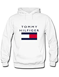 Tommy Hilfiger Cotton Tops For Mens Printed Pullover Hoodies