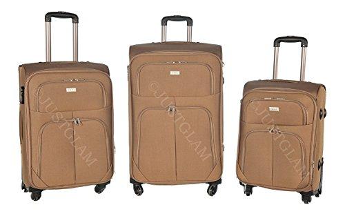 Set de 3 maletas en tejido 4 ruedas extremista ligero equipage pequeno de cabina art so1