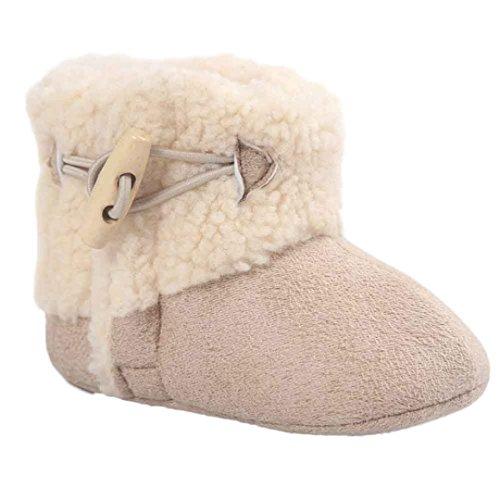 Ouneed® Krabbelschuhe , 0-18 Monate Baby Warmhalte weiche Sohle Schneestiefel weiche Krippe Schuhe Kleinkind Stiefel Khaki
