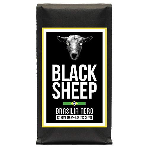 Black Sheep Coffee - Brasilia Nero 400g   Ganze Bohnen aus Brasilien   Sehr kräftiger Kaffee mit wenig Säure   sehr dunkle Trommelröstung   Nicht für schwache Gemüter und schwangere Frauen empfohlen