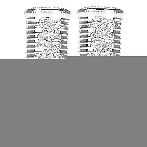 2 Stück Glas Roller Ätherisches Öl Flasche 3ml / 6ml(3 ml Silber) - Spray-2 Unzen-flüssigkeit