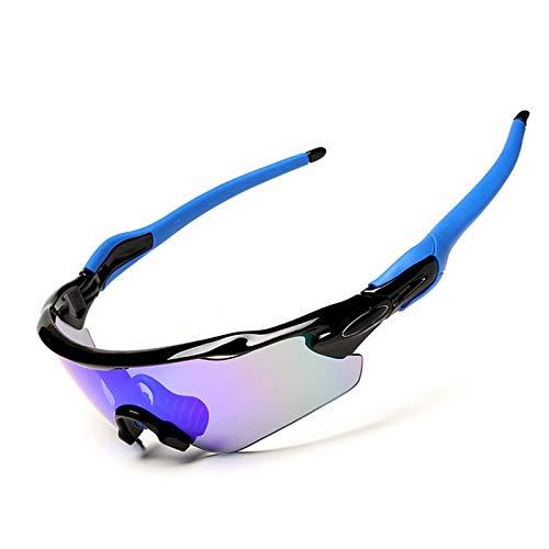 Adisaer Radbrille Klar Tr Halbrunde Polarisierte Reitbrille Für Außenbereich Black Blue Damen Herren
