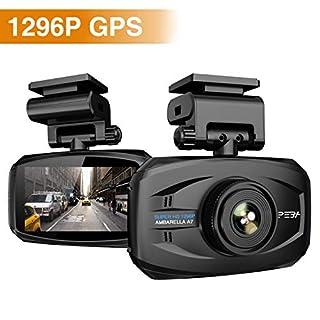 Dashcam Autokamera 1296p mit GPS PEBA Dash Camera Super HD Auto DVR Camcorder 3 Zoll LCD-Bildschirm WDR Kollisionserkennung Parkmonitor Loop-Aufnahme und G-Sensor