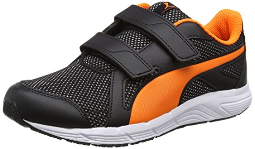 Puma Axis V4 Mesh V Ps, Sneakers Basses Mixte Enfant, Noir (Puma Black-Orange Clown Fish 07), 34 EU