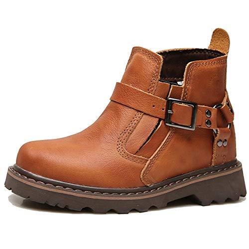MERRYHE Runde Kappe Martin Stiefel Für Männer Frauen Military Tactical Combat Desert Stiefel Vintage Echtes Leder ()