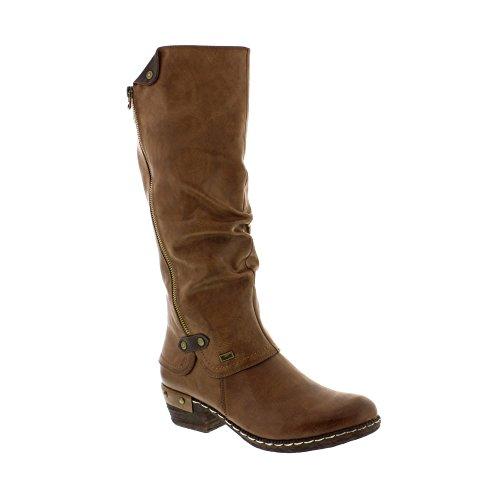 Rieker Sierra Damen Lange Stiefel 38 EU Tan (Lange Stiefel)