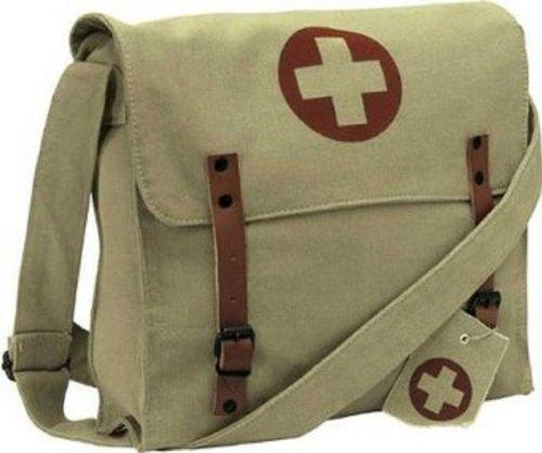 Rothco Khaki Vintage Red Cross Medic Umhängetasche - Rothco Grün