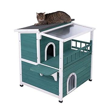 Grande maison de chat avec toit ouvrant