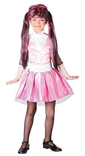 sa Monster Schulmädchen Monster High Draculaura TV Buch Film Cartoon Kostüm Kleid Outfit 5-12 Jahre - Rosa, 7-9 Years (Draculaura Mädchen Kostüm)