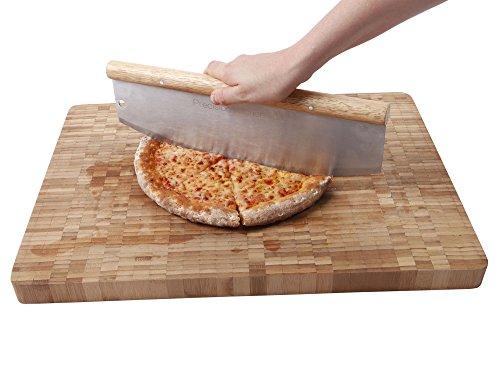 Pizzamesser / Wiegemesser mit 35 cm Klinge - 2