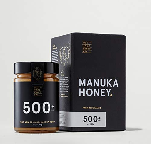 Manuka Honig MGO 500+ ( UMF 15+ ) 400g im Glas *Premium-Marke aus Neuseeland *100% echt *rein *zertifiziert. Sehr edel verpackt. - Nz Manukahonig Health