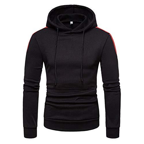 ITISME TOPS Herren Herbst Winter Patchwork Langarm Hoodie Pullover Sweatshirt Top Bluse Winter Warm halten
