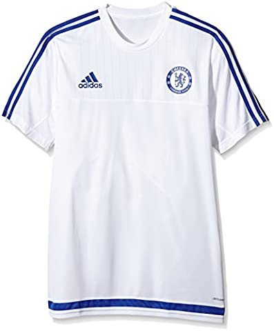 adidas Herren Kurzarm Trikot FC, White/Chelsea Blue, L, S12073