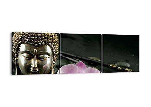 Bild auf Leinwand - Leinwandbilder - drei Teile - Breite: 90cm, Höhe: 30cm - Bildnummer 0145 - dreiteilig - mehrteilig - zum Aufhängen bereit - Bilder - Kunstdruck - CA90x30-0145