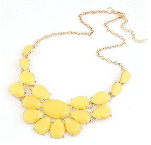 reixus (TM) Fashion Halskette Femme Jewelry Statement Halsband Ketten & Anhänger Maxi dasyatis Femininos Halsbänder für Frauen Zubehör 2016, gelb