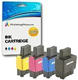 4 Tintenpatronen kompatibel zu LC900 LC950 für Brother MFC-210C 215C 3340CN 410CN 425CN 5440CN 5840CN DCP-110C 115C 117C 310CN 315CN 340CW Fax-1840C 1940CN - Schwarz/Cyan/Magenta/Gelb, hohe Kapazität