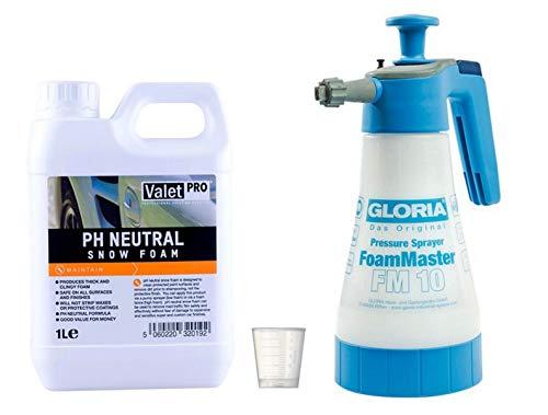 Preisvergleich Produktbild Gloria FM 10 Foam Master + ValetPRO pH Neutral Snow Foam Shampoo + Messbecher