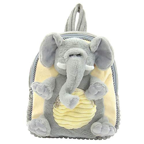 Kögler Plüsch Rucksack für Kinder, Elefant, Grau/Beige, flauschig weich, ca. 35 cm groß Mochila Infantil 35 Centimeters (Gr/Beige)