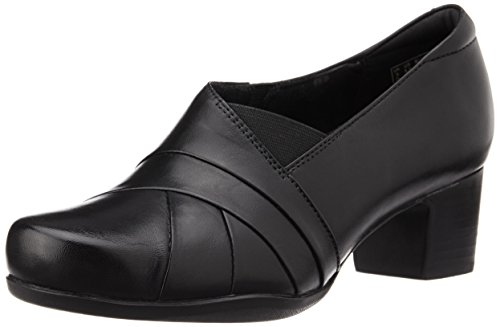 Clarks Rosalyn Adele Womens Smart Schuhe In Pelle Nera