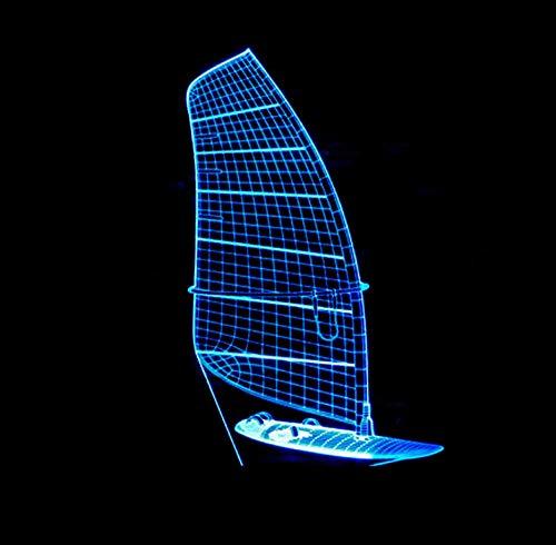 3D Lampe Nachtlicht Stimmungslicht Segeln 7 Farben Einzigartige Lichteffekte Usb Power Touch Tischlampe Beste Geburtstagsgeschenke Für Jungen Mädchen Kinder Baby