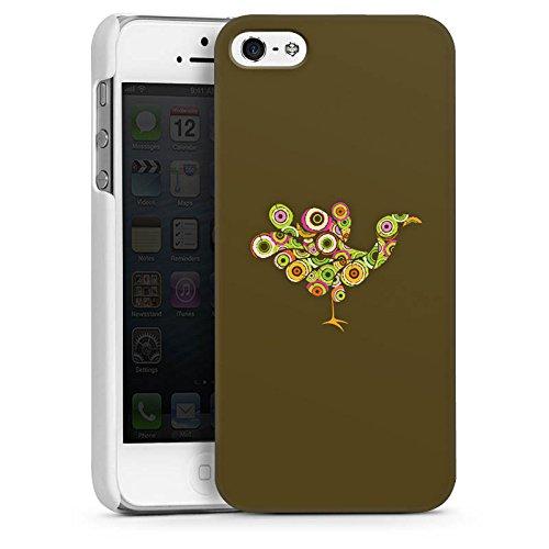 Apple iPhone 4 Housse Étui Silicone Coque Protection Paon Oiseau couleurs CasDur blanc