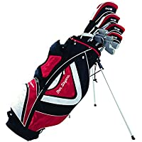 Ben Sayers Men's M15 Package Set Stand Bag - Graphite Red/Black