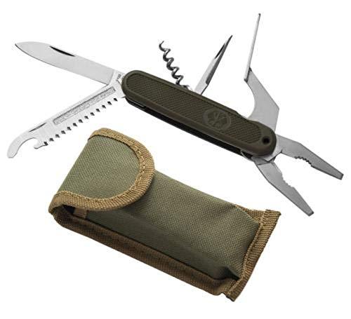 Couteau multifonctions officier armée bundesadler armeemesser avec sac banane vert olive