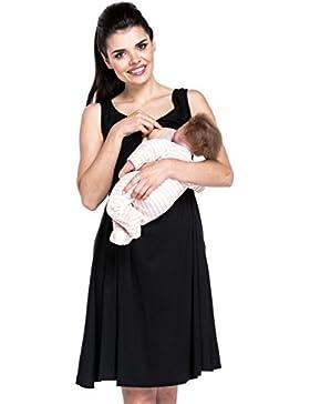 Zeta Ville - Stillen A-Linie Kleid Schwangere Tiefer V-Ausschnitt - Damen - 685c